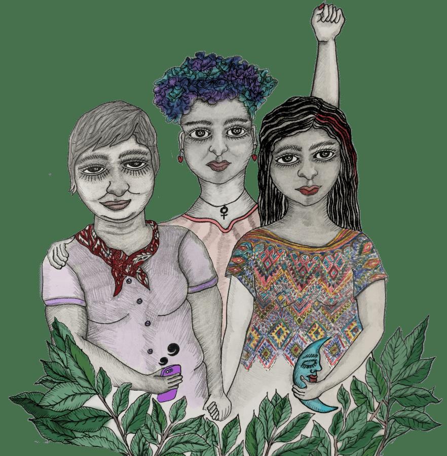 defensoras_debuxo tres mulleres